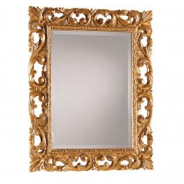 Specchiera in finitura foglia oro