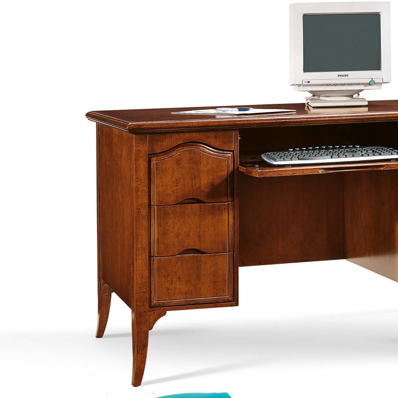 Bianco//Effetto Quercia Scrivania con 3 Ripiani e 3 Cassetti 120 x 49 x 72 cm Tavolo da Computer PC Postazione di Lavoro Tavolo da Studio