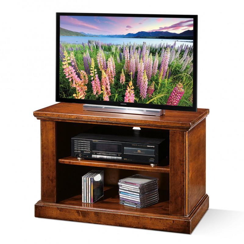 Mobile Porta Tv Legno Arte Povera.Porta Tv Con Ruote E Due Vani A Giorno