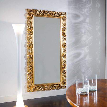 Specchiera con foglia oro