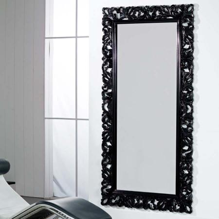 Specchiera laccata nero lucida