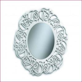 Specchiera ovale traforata