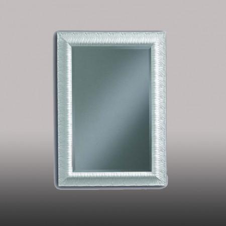 Specchiera bianca con vetro molato