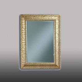 Specchiera dorata con vetro molato