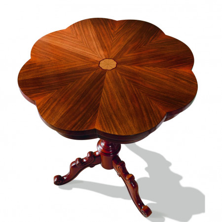 Tavolino sagomato ed intarsiato