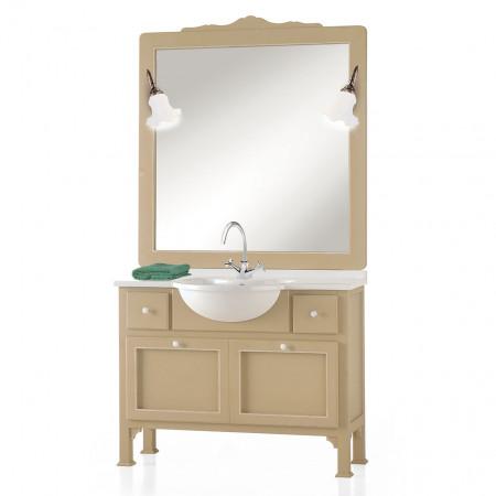Bagno classico in legno con specchiera