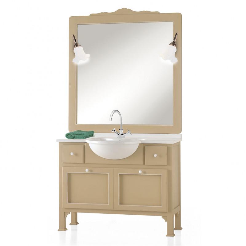 Bagno classico in legno con specchiera - Specchiera bagno legno ...