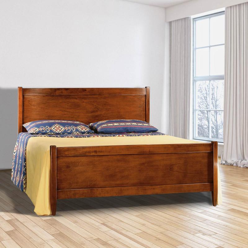 Letto matrimoniale classico in legno - Letto matrimoniale legno ...