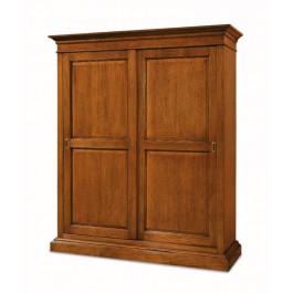 Armadio classico in legno a 2 ante