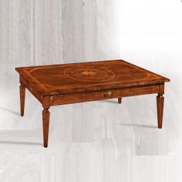 Tavolino intarsiato con 1 cassetto