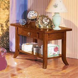 Tavolino classico in legno 1 cassetto