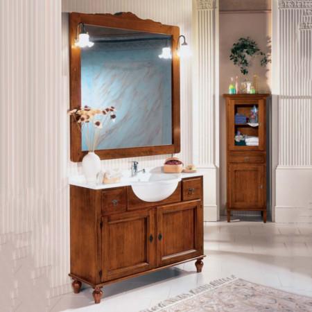 Mobile lavabo con specchiera e lampade