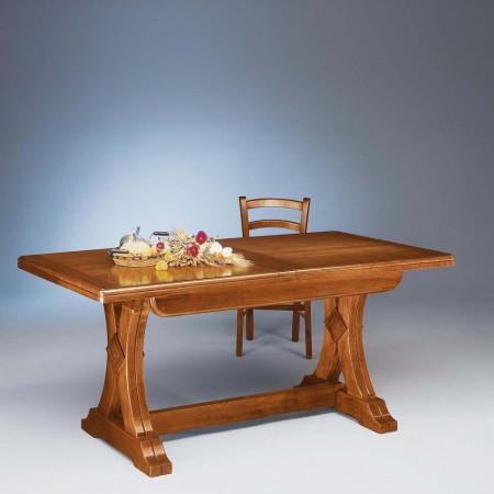 Tavolo riquadrato in legno 160/340x85
