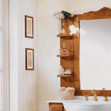 Mensola in legno con 3 ripiani