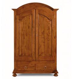 Armadio in legno massello a 2 ante