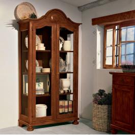 Vetrinetta classica in legno con 2 ante