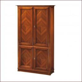 Libreria new classical 4 ante legno