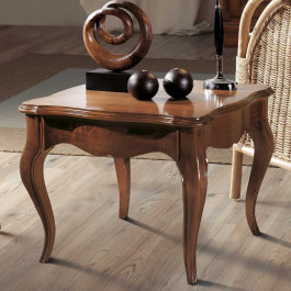 Tavolino quadrato gambe sagomate