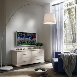 Base porta tv natura con piedini