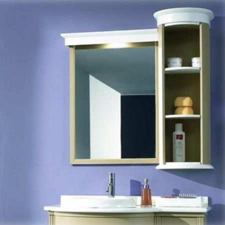 Pensile con specchiera sinistra decor