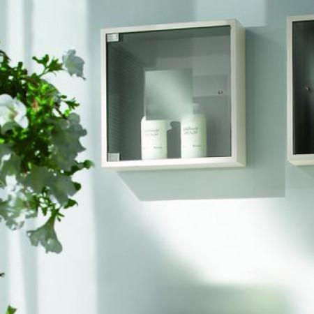 Visual box con anta vetro per bagno