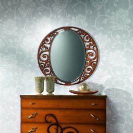 Specchiera con trafori con specchio molato