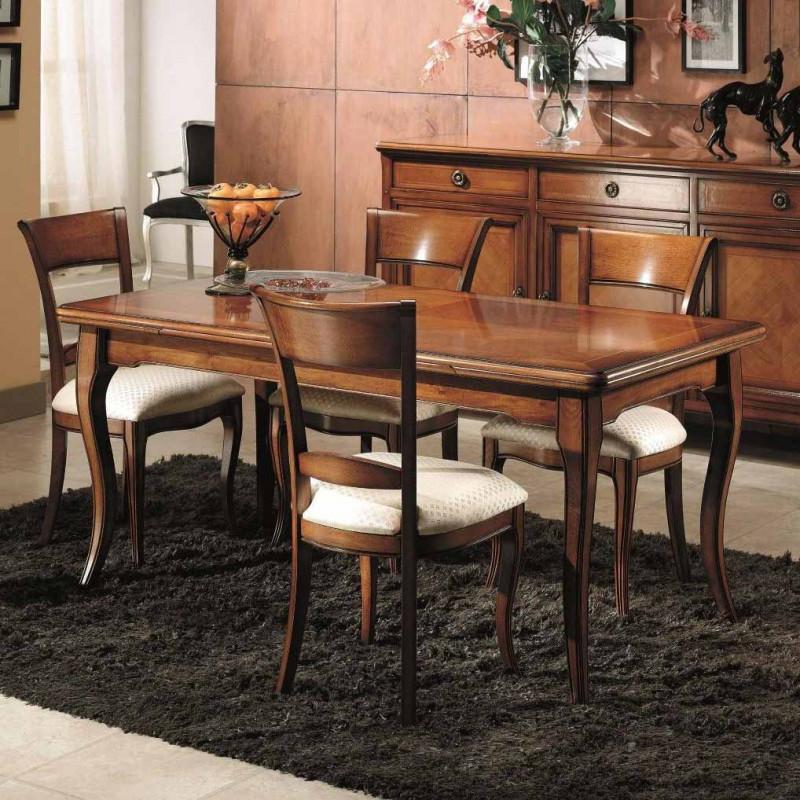 Tavolo rettangolare allungabile 170 250x90 classico - Tavolo allungabile classico ...