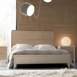 Cantiero New Age letto con testata in legno di noce