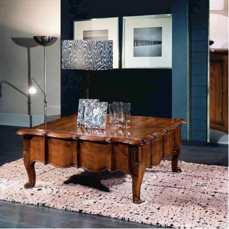 Tavolino classico sagomato con cassetto