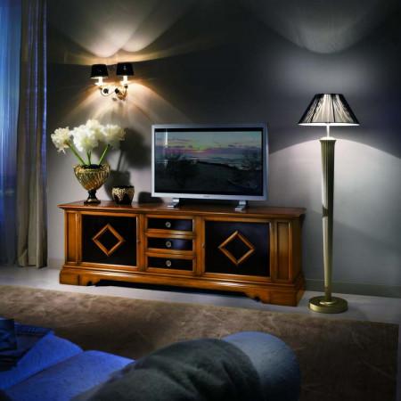 Porta tv con rombi nelle ante