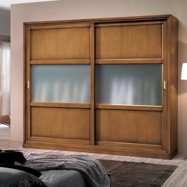 Armadio pannelli legno e vetro centimetri 295