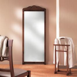Specchio a terra legno cimasa sagomata