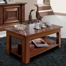 Tavolino rettangolare pianetto e gambe quadre