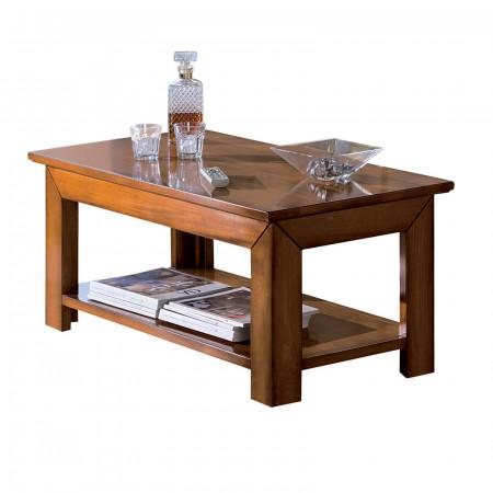 Tavolino quadrato con gambe quadre