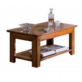 Tavolino quadrato gambe a colonna quadra