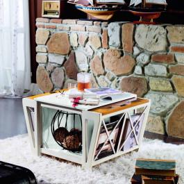 Tavolino con porta riviste
