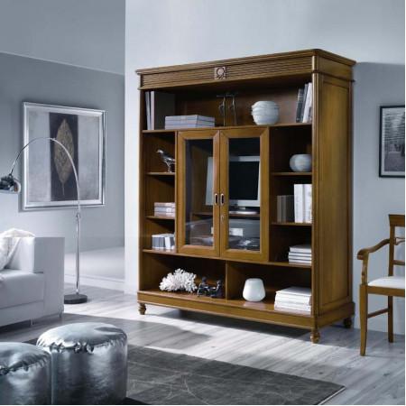Porta tv libreria classico in legno