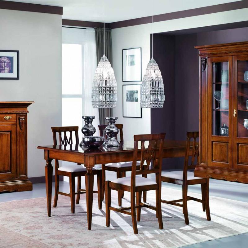 Sala da pranzo classica capitelli e 6 sedie - Sedie sala da pranzo ...
