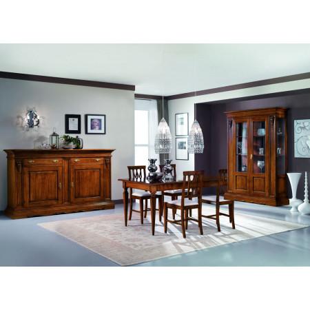 Sala da pranzo classica capitelli e 6 sedie