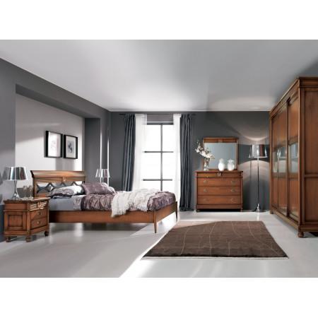 Camera da letto classica armadio con vetro