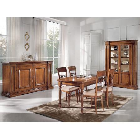 Sala da pranzo classica 6 sedie legno for Sedie da sala da pranzo classiche