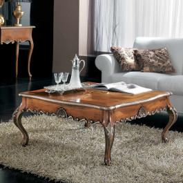 Tavolino barocco cornici top argento