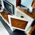 Porta tv zoccolo intagliato intarsiato verona