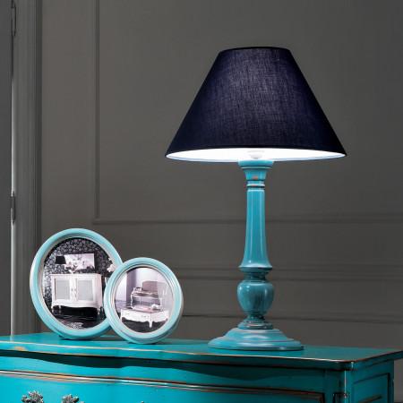Lampada diametro40 finitura azzurro francese