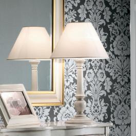 Lampada diametro 40 finitura bianco francese