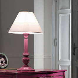 Lampada diametro 40 finitura rosa francese