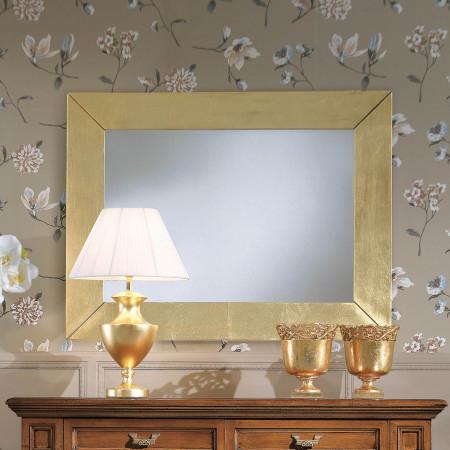 Specchiera moderna foglia oro