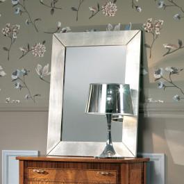Specchiera moderna foglia argento