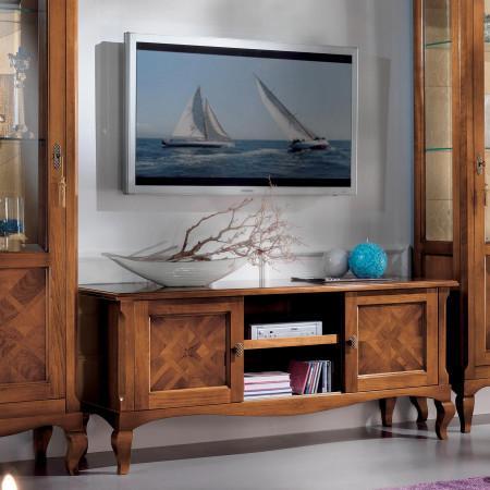 Porta tv ante scorrevoli con intarsio