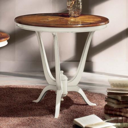 Tavolino rotondo intarsio verona diametro 80